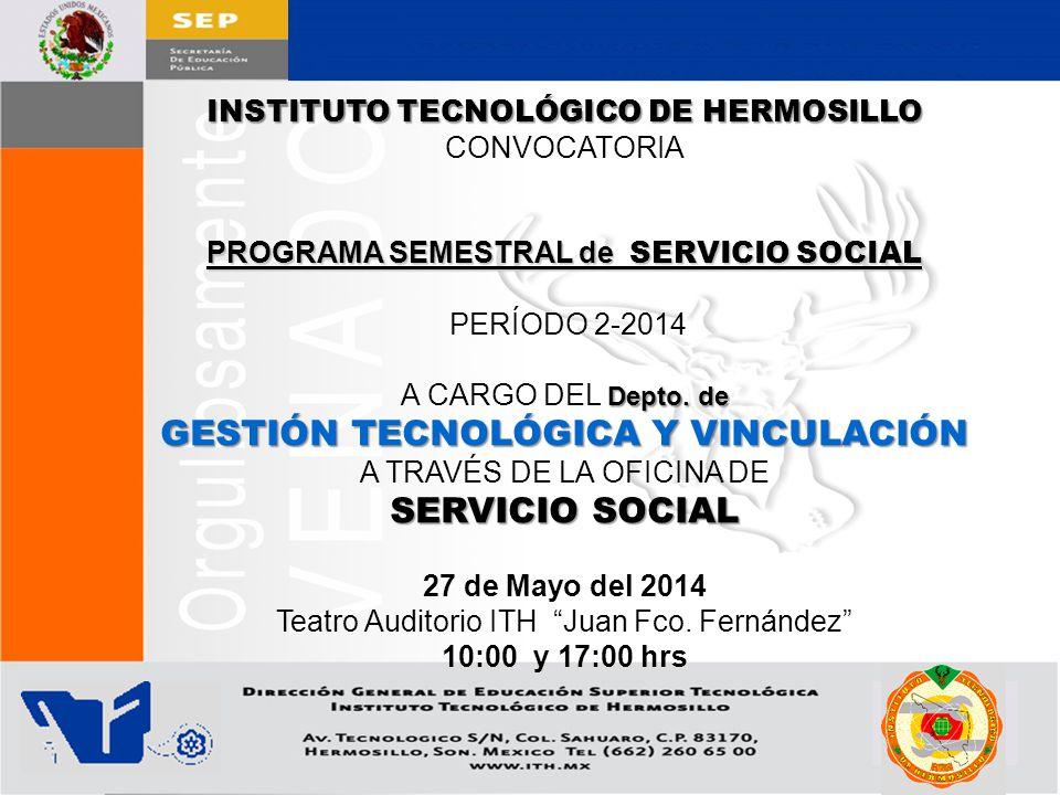 GESTIÓN TECNOLÓGICA Y VINCULACIÓN SERVICIO SOCIAL
