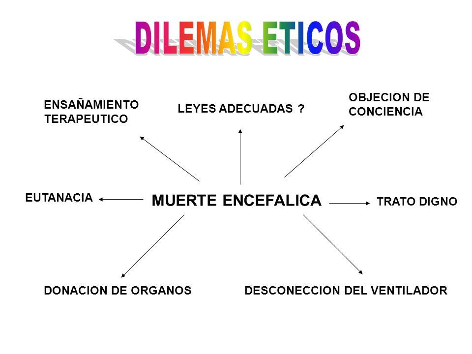 DILEMAS ETICOS MUERTE ENCEFALICA OBJECION DE CONCIENCIA