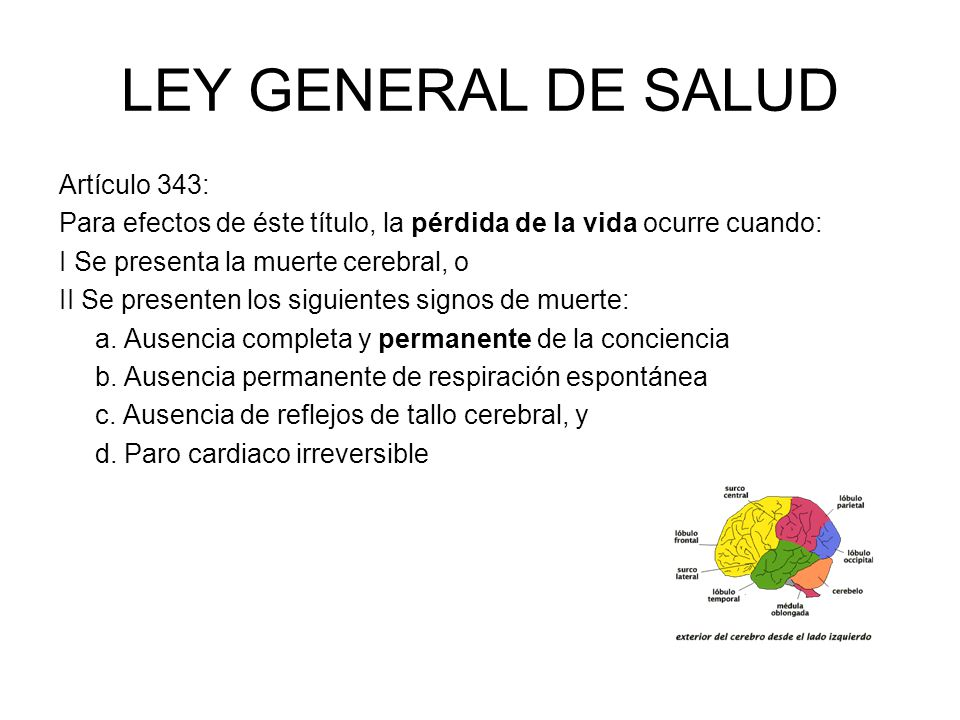 LEY GENERAL DE SALUD Artículo 343: