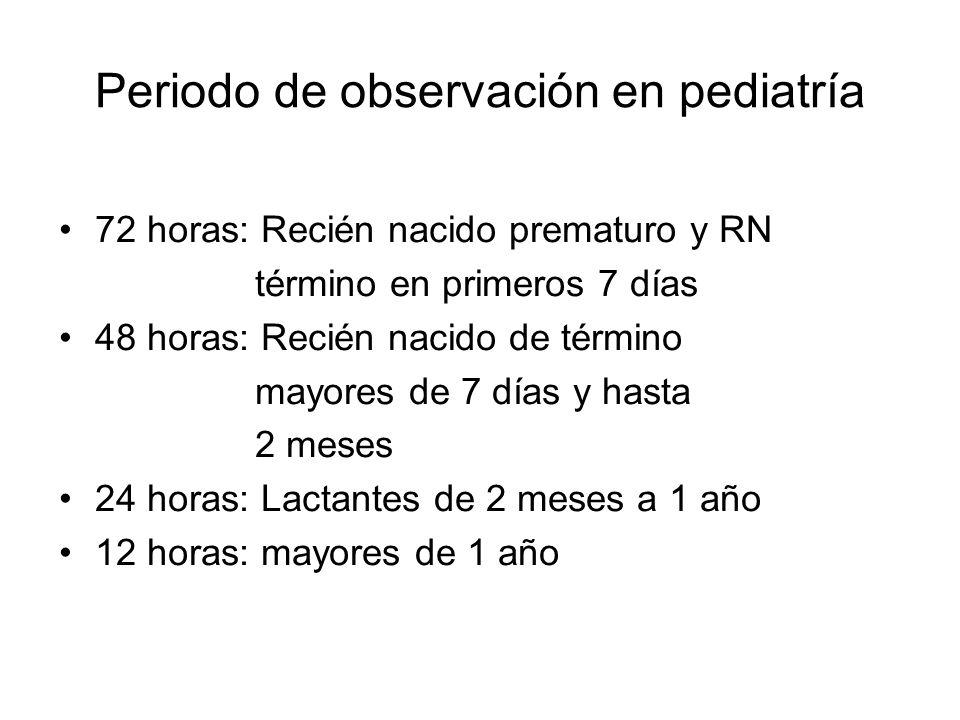 Periodo de observación en pediatría