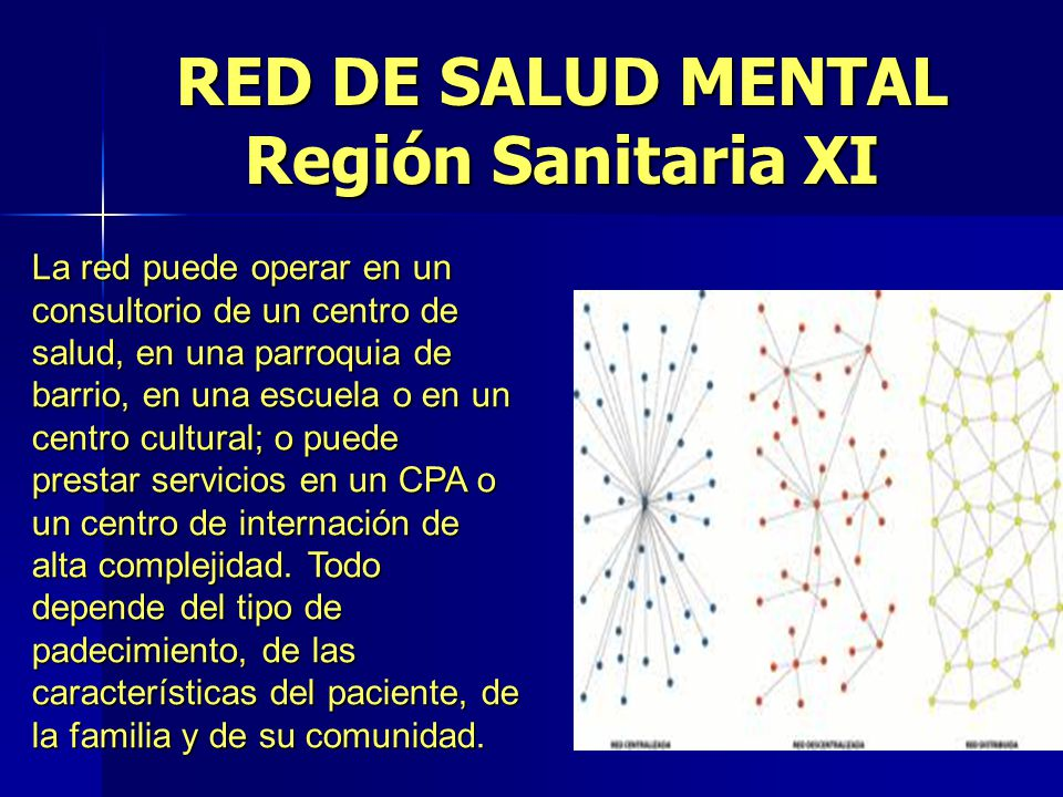 RED DE SALUD MENTAL Región Sanitaria XI