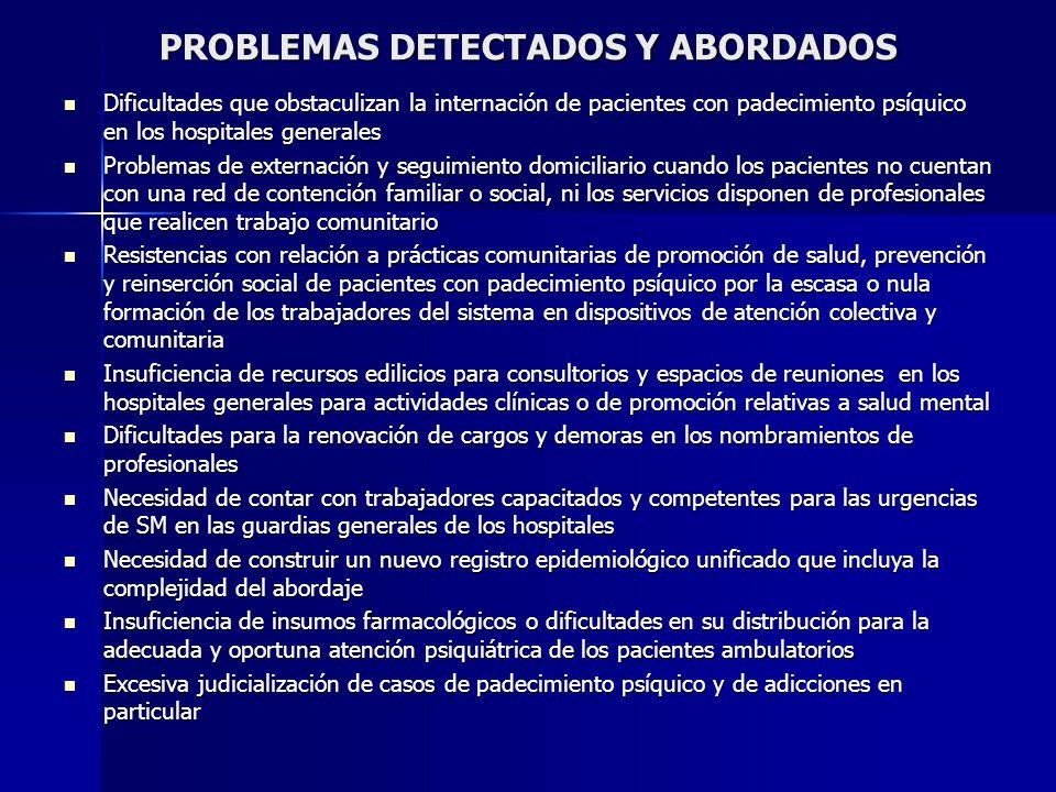 PROBLEMAS DETECTADOS Y ABORDADOS