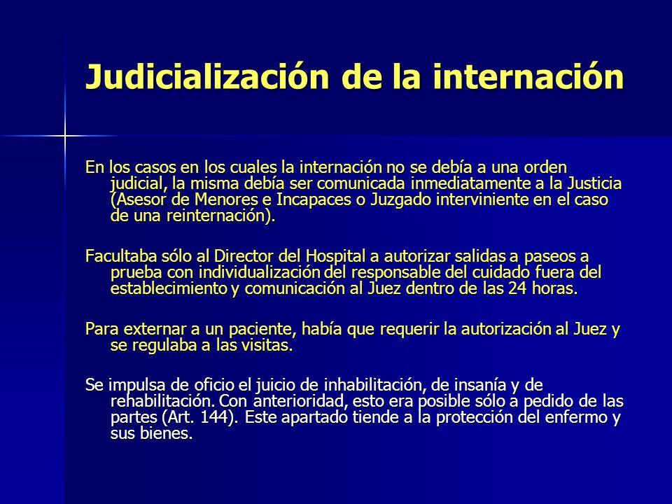 Judicialización de la internación