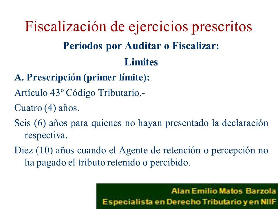 Fiscalización de ejercicios prescritos