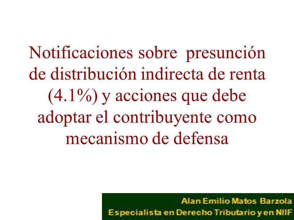 Notificaciones sobre presunción de distribución indirecta de renta (4
