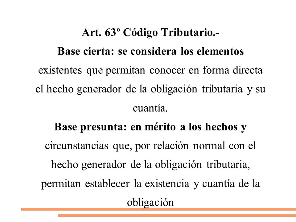 Art. 63º Código Tributario