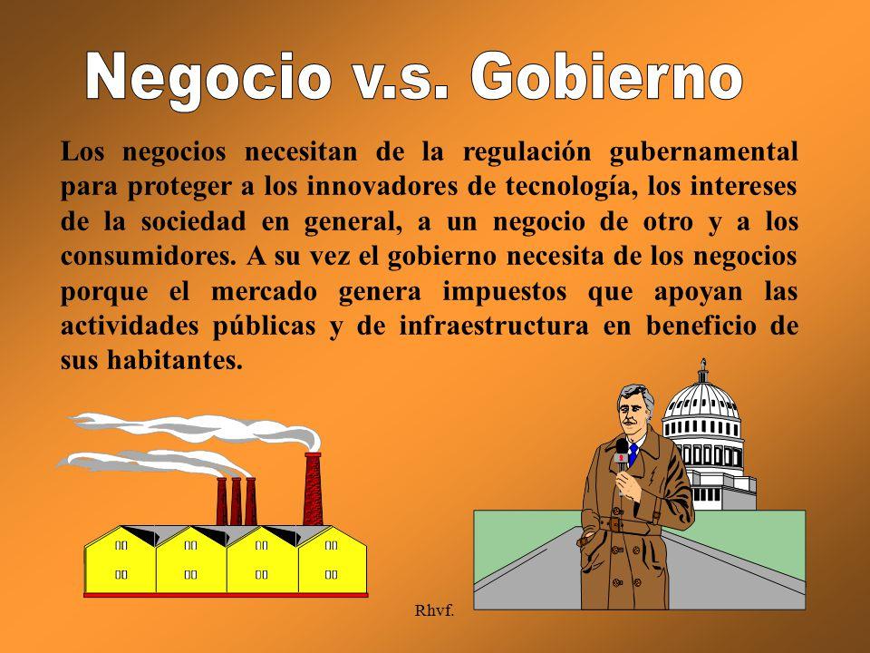 Negocio v.s. Gobierno