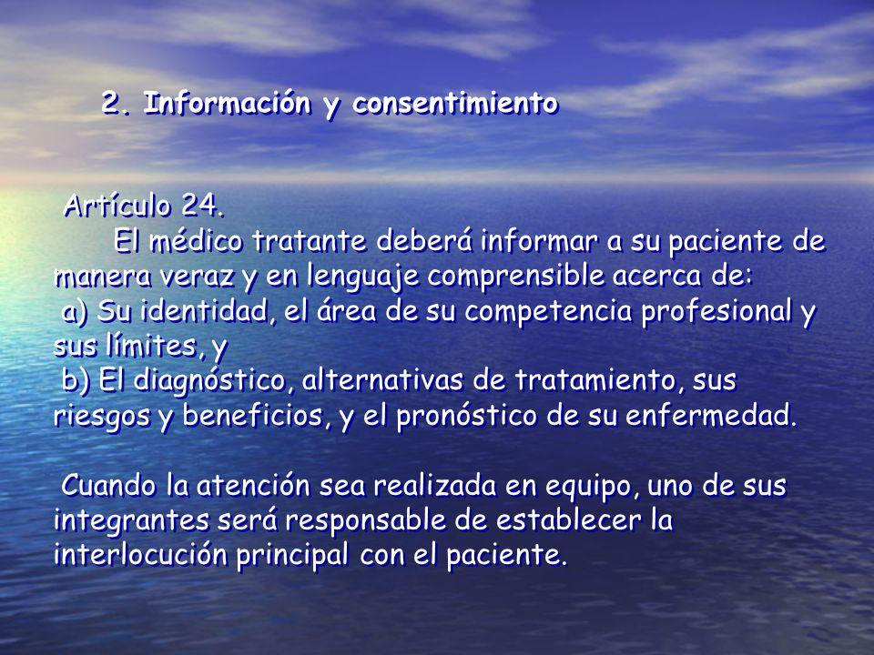 2. Información y consentimiento