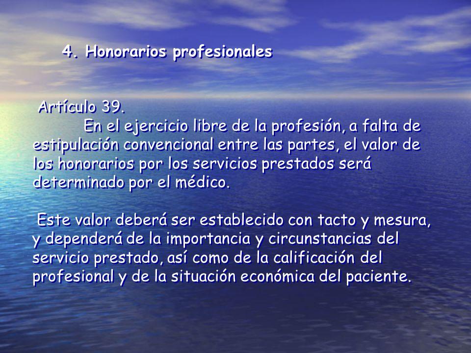 4. Honorarios profesionales