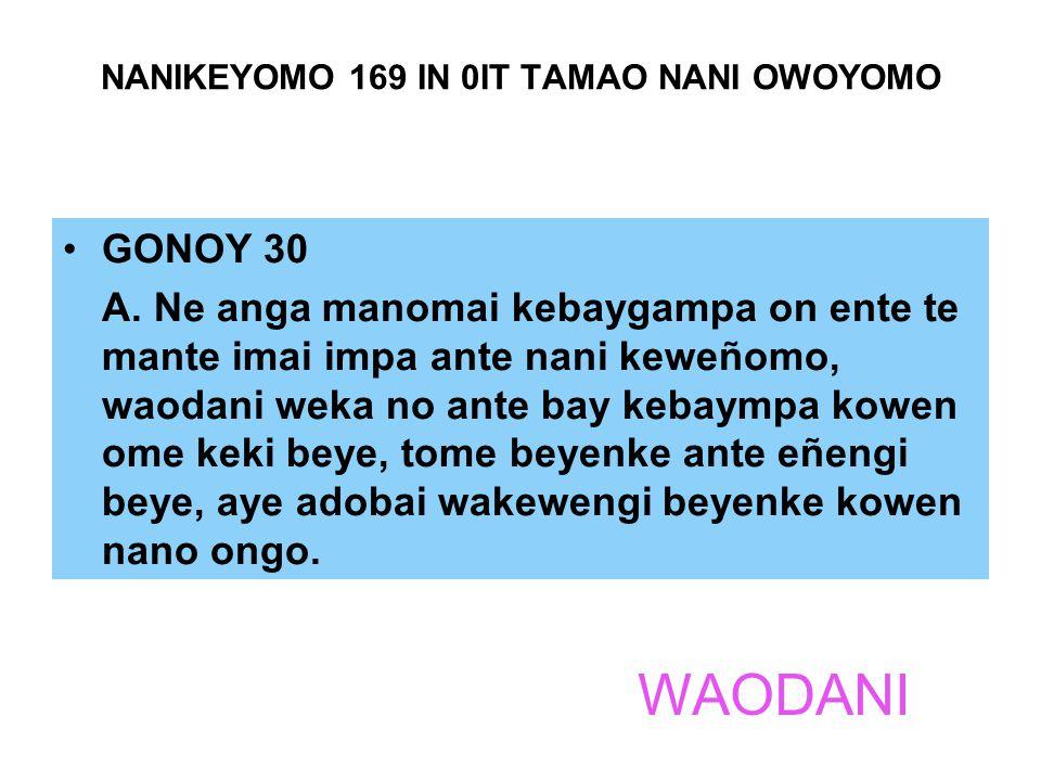 NANIKEYOMO 169 IN 0IT TAMAO NANI OWOYOMO