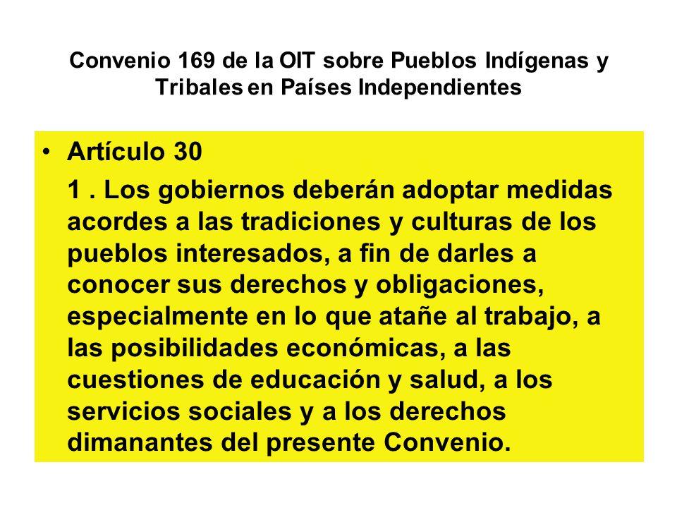 Convenio 169 de la OIT sobre Pueblos Indígenas y Tribales en Países Independientes