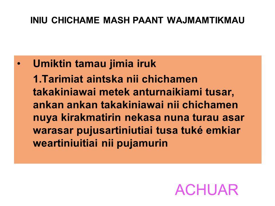 INIU CHICHAME MASH PAANT WAJMAMTIKMAU