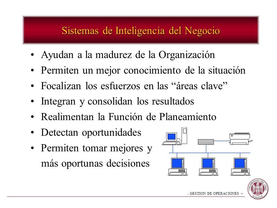 Sistemas de Inteligencia del Negocio