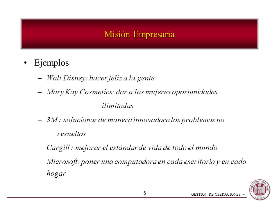 Misión Empresaria Ejemplos Walt Disney: hacer feliz a la gente
