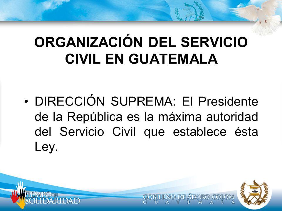 ORGANIZACIÓN DEL SERVICIO CIVIL EN GUATEMALA