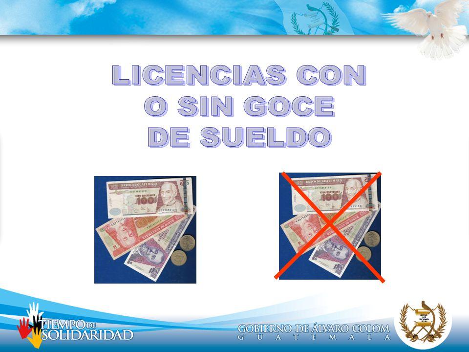 LICENCIAS CON O SIN GOCE DE SUELDO