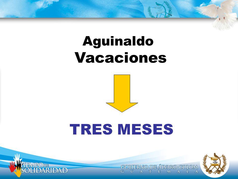Aguinaldo Vacaciones TRES MESES