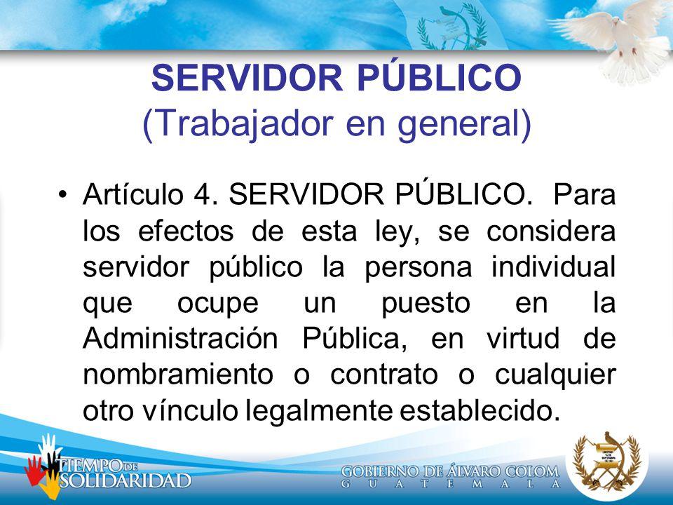 SERVIDOR PÚBLICO (Trabajador en general)