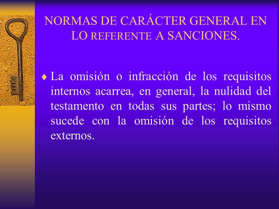NORMAS DE CARÁCTER GENERAL EN LO REFERENTE A SANCIONES.