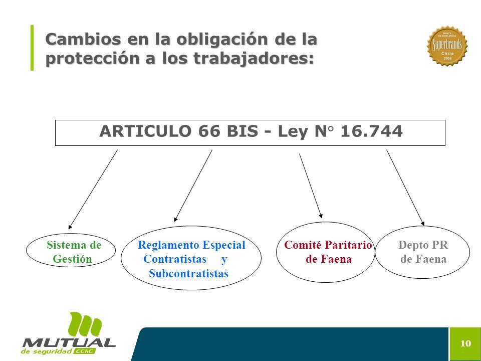 Cambios en la obligación de la protección a los trabajadores: