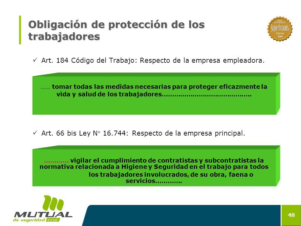 Obligación de protección de los trabajadores