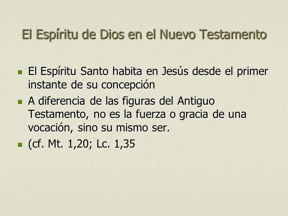 El Espíritu de Dios en el Nuevo Testamento