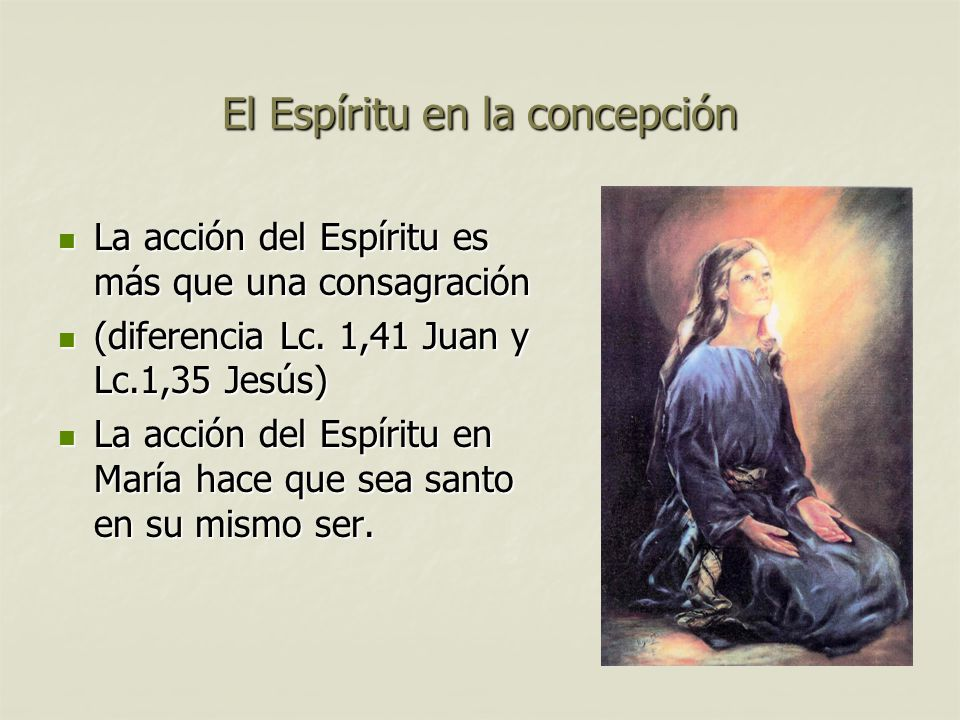 El Espíritu en la concepción