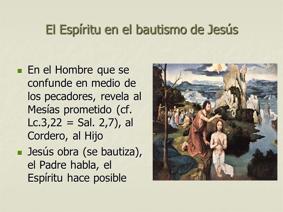 El Espíritu en el bautismo de Jesús