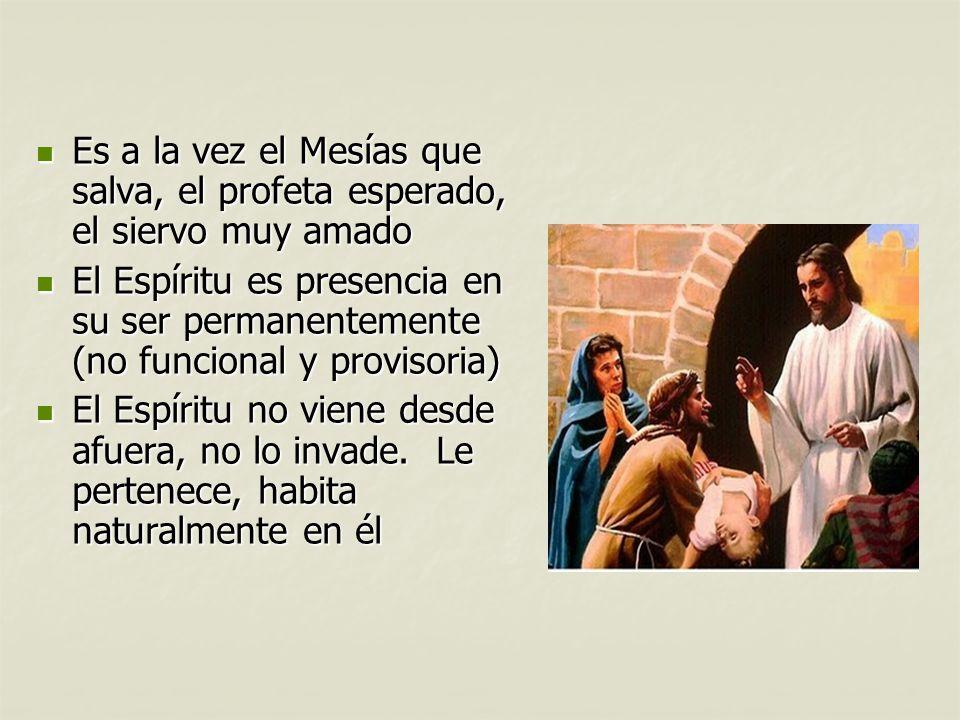 Es a la vez el Mesías que salva, el profeta esperado, el siervo muy amado