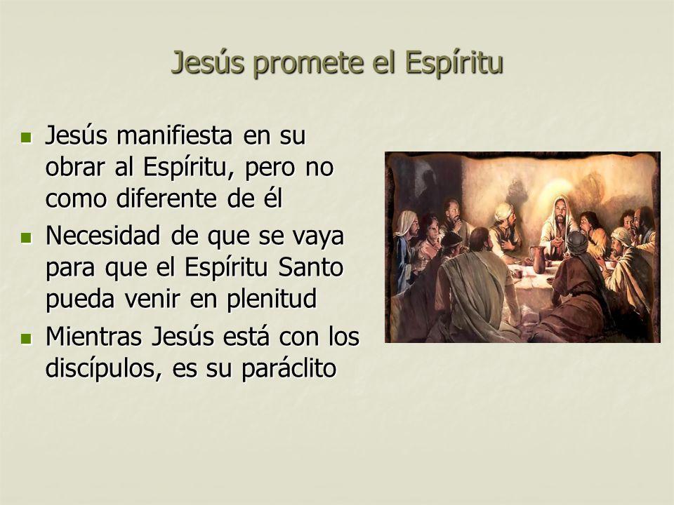 Jesús promete el Espíritu