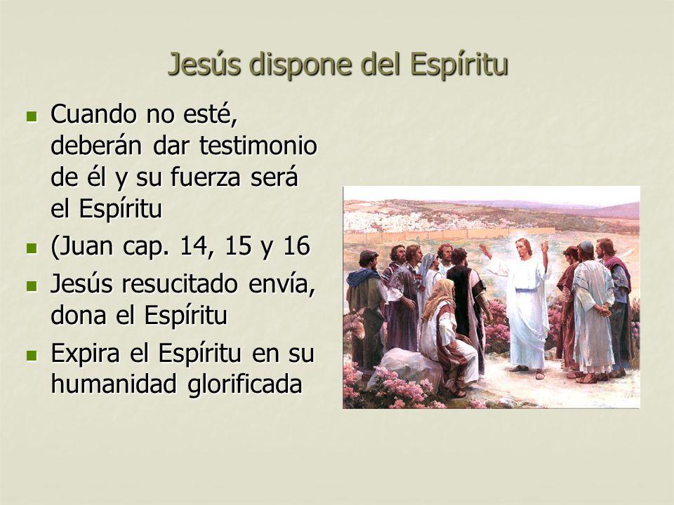 Jesús dispone del Espíritu