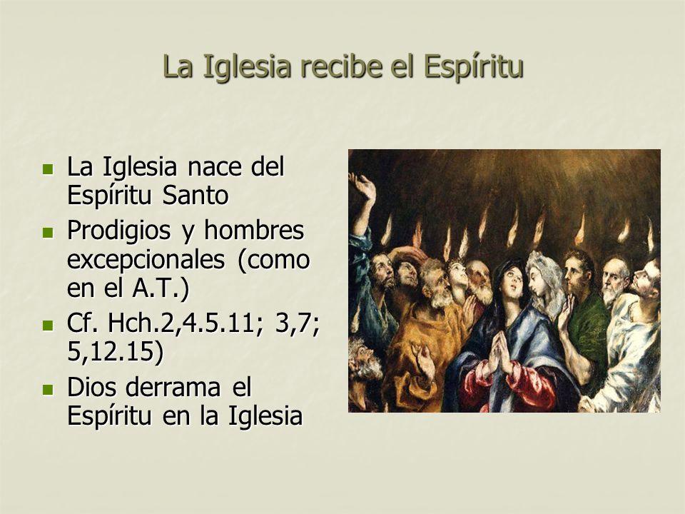 La Iglesia recibe el Espíritu