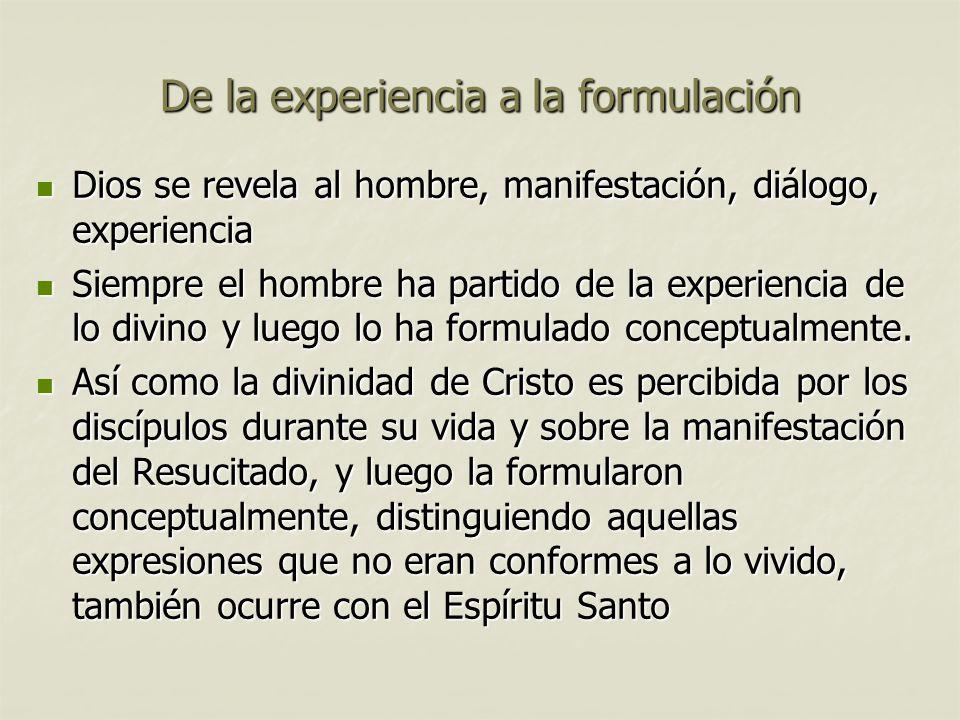 De la experiencia a la formulación