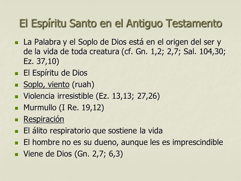 El Espíritu Santo en el Antiguo Testamento
