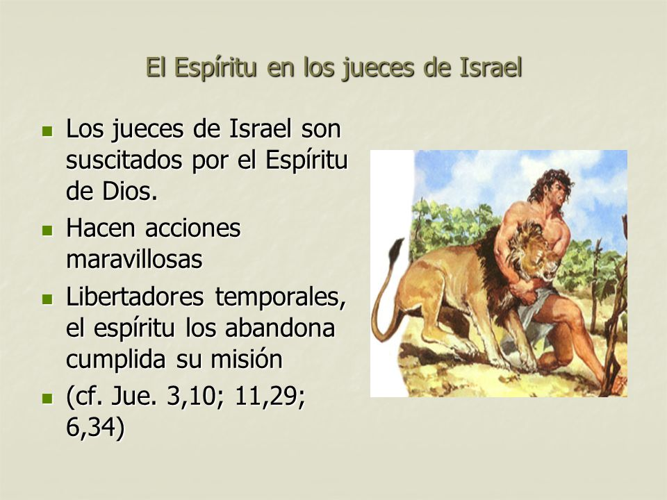 El Espíritu en los jueces de Israel