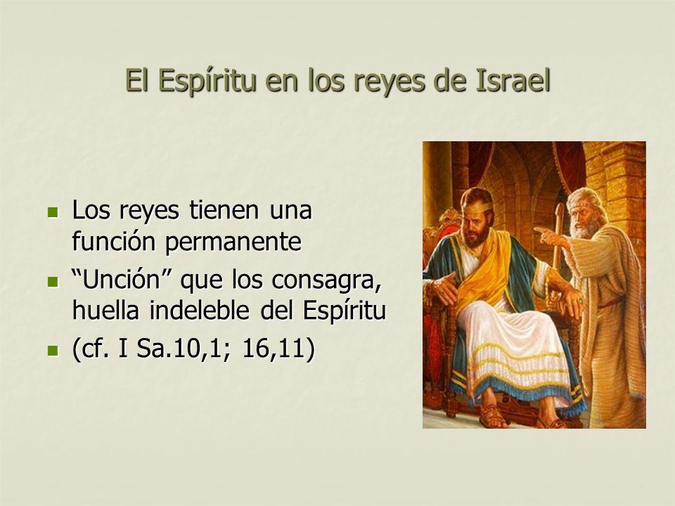 El Espíritu en los reyes de Israel