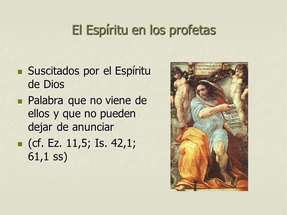 El Espíritu en los profetas