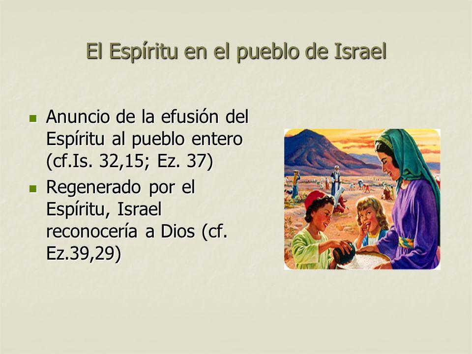 El Espíritu en el pueblo de Israel
