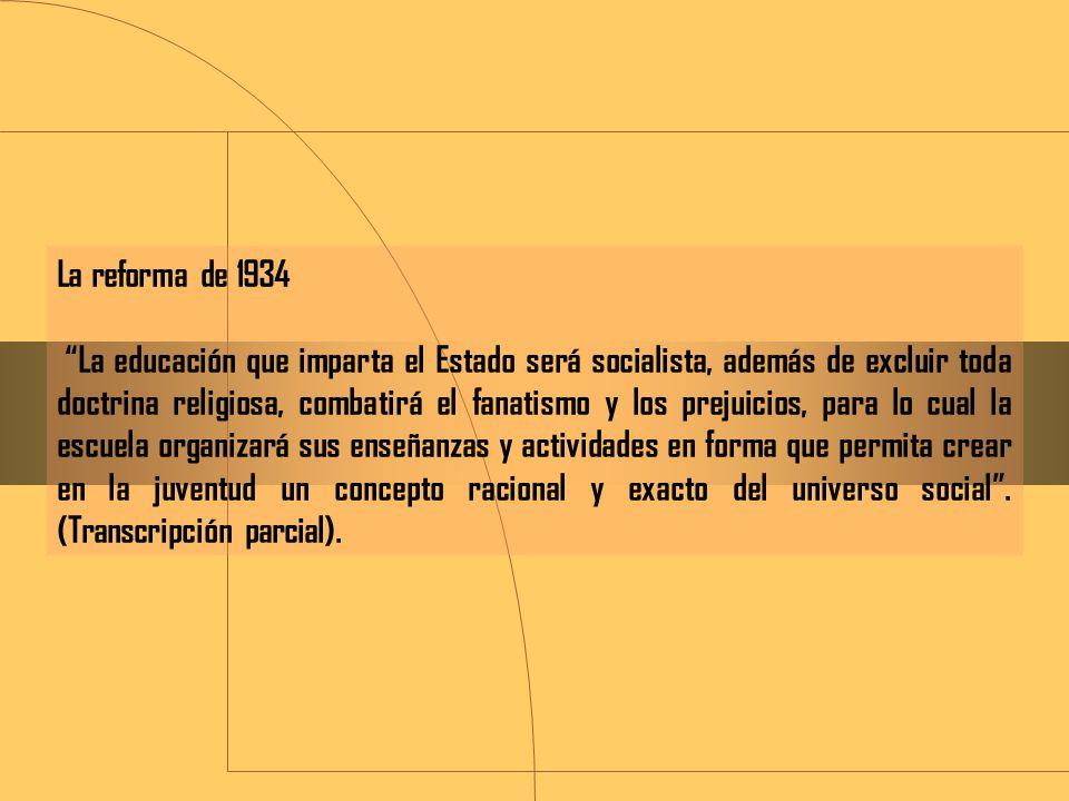 La reforma de 1934