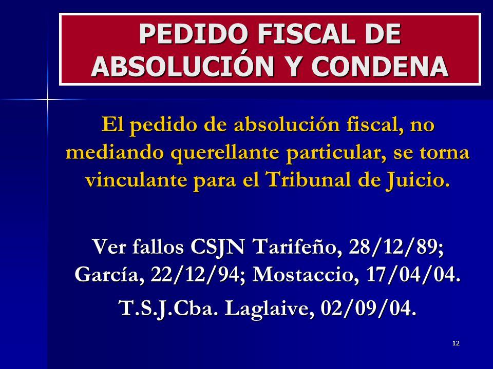 PEDIDO FISCAL DE ABSOLUCIÓN Y CONDENA