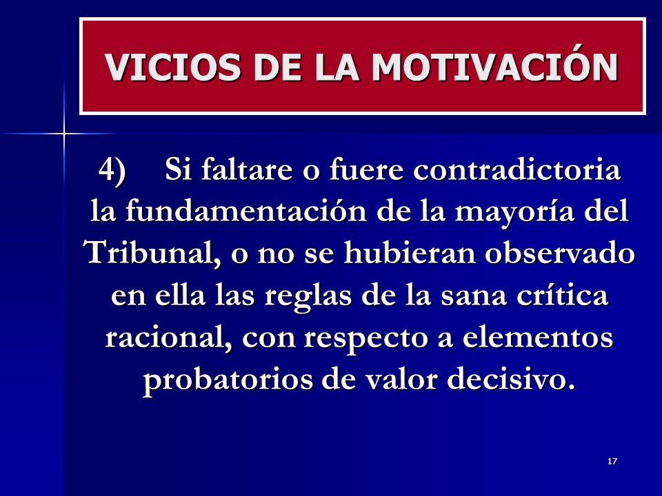 VICIOS DE LA MOTIVACIÓN