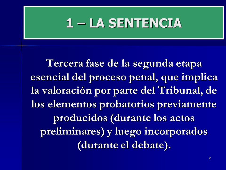 1 – LA SENTENCIA