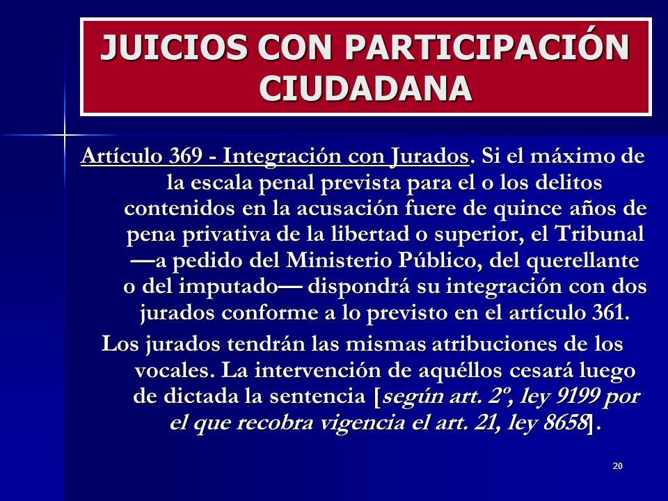 JUICIOS CON PARTICIPACIÓN CIUDADANA