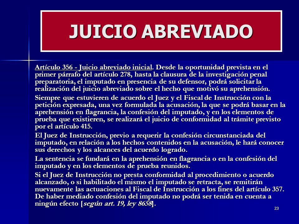 JUICIO ABREVIADO
