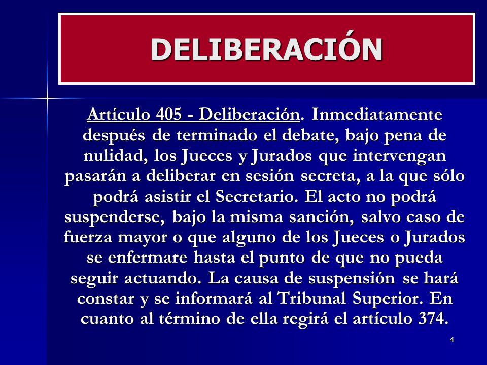 DELIBERACIÓN
