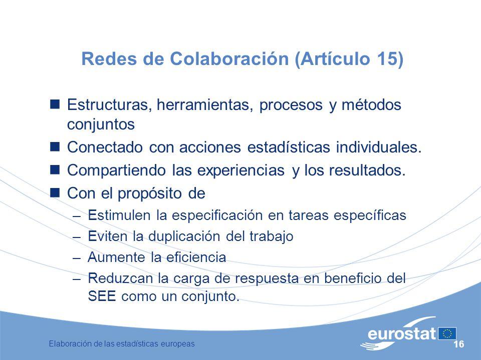 Redes de Colaboración (Artículo 15)