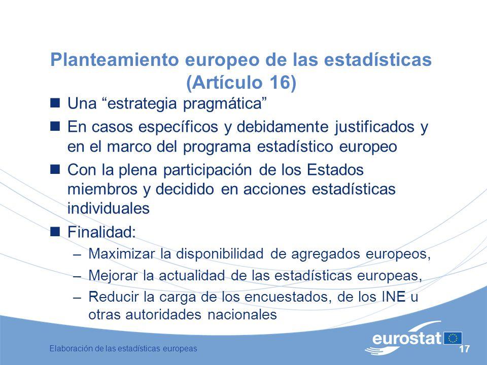 Planteamiento europeo de las estadísticas (Artículo 16)