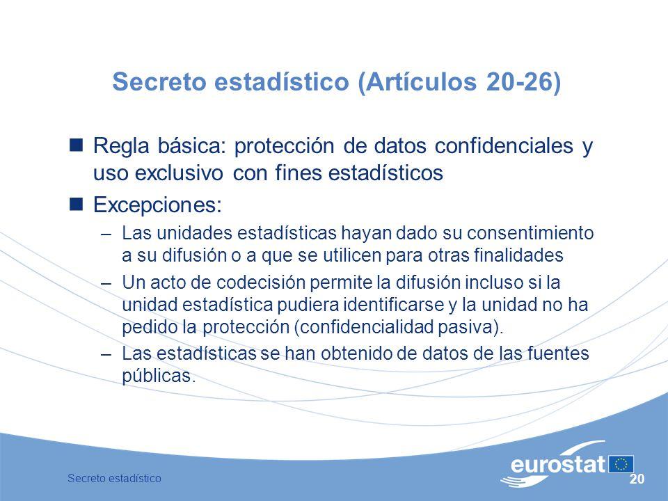 Secreto estadístico (Artículos 20-26)