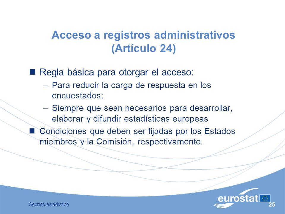Acceso a registros administrativos (Artículo 24)