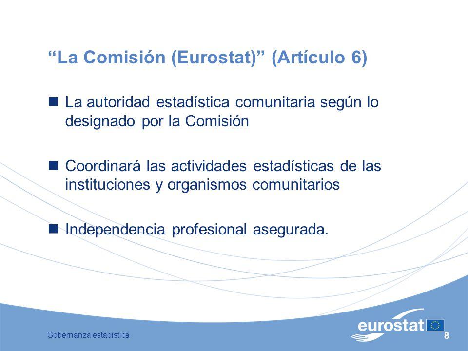 La Comisión (Eurostat) (Artículo 6)